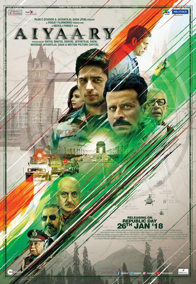 Sidharth Malhotra Aiyaary Movie First Look Poster