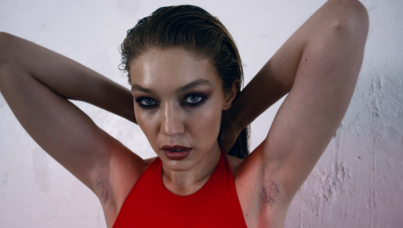 Gigi Hadid Shows Off Armpit Hair in Love Magazine Advent Calendar 2017