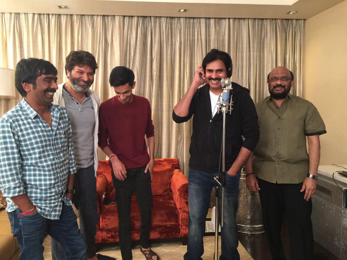 Pawan Kalyan Finished Singing Song For Agnyaathavaasi Movie