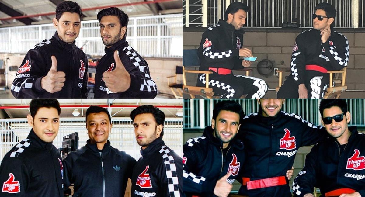 Ranveer Singh & Mahesh Babu Thums Up Ad Shoot Pics