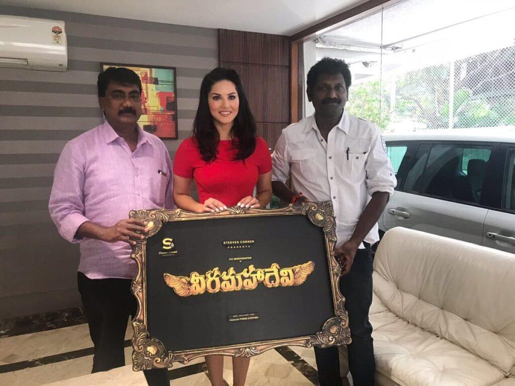 Sunny Leone South Debut with Veeramahadevi