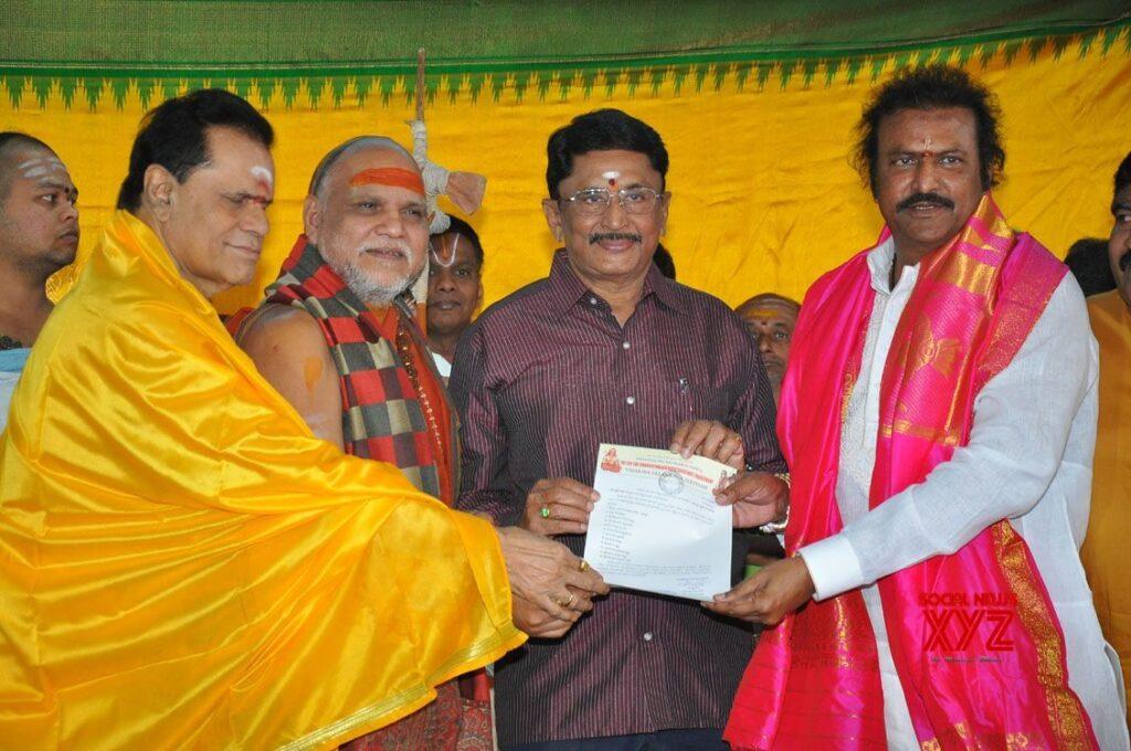 Mohan Babu Chairman of Film Nagar Daiva Sannidhanam Temple