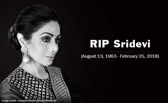 Actress Sridevi Passed Away at 54