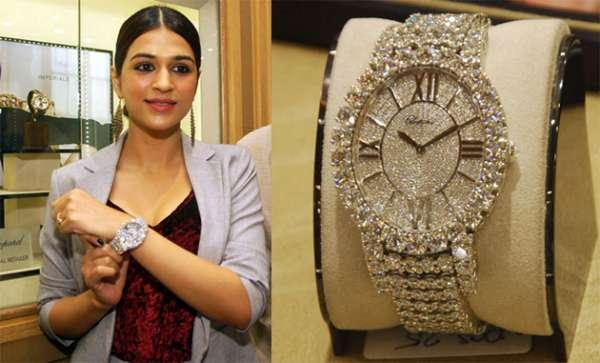 Actress Shraddha Das Watch Costs 2.6 Crores