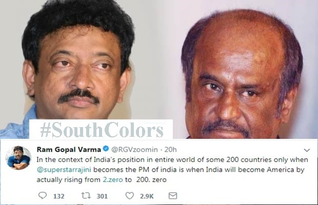 RGV Says India Will Become America When Rajinikanth Becomes PM
