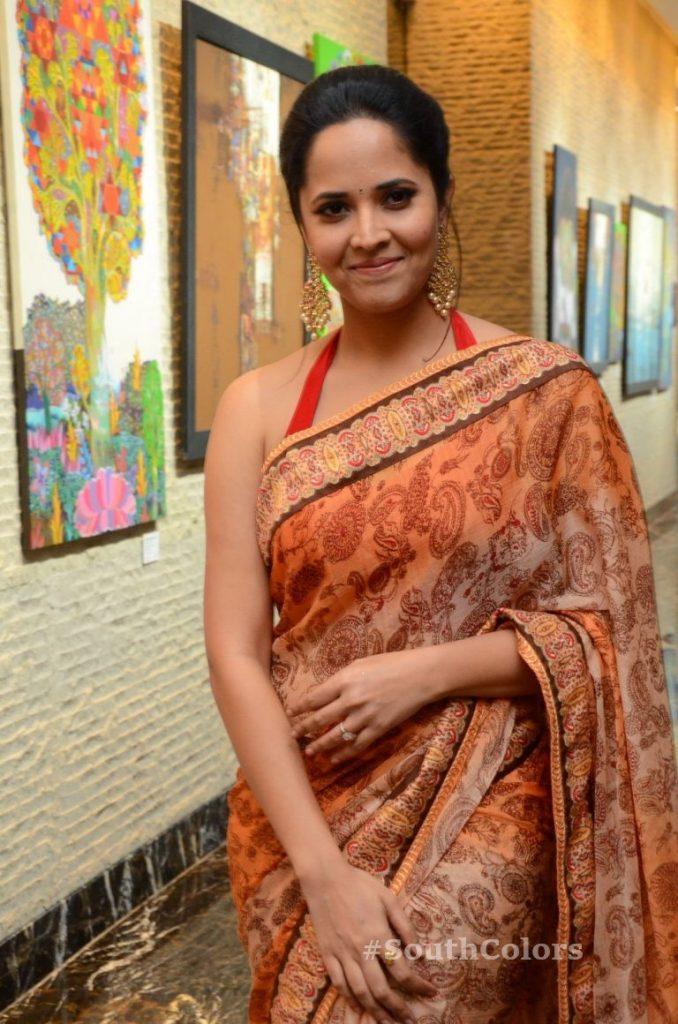anasuya bharadwaj latest stills at rangasthalam thank you meet 12