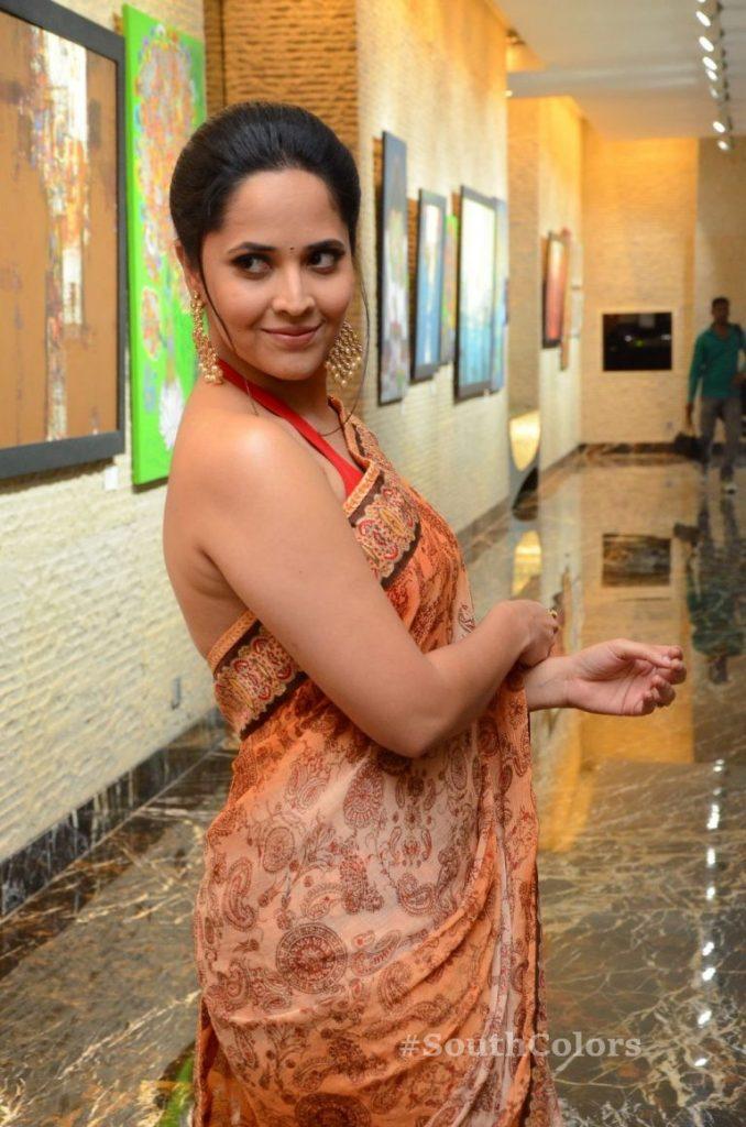 anasuya bharadwaj latest stills at rangasthalam thank you meet 13
