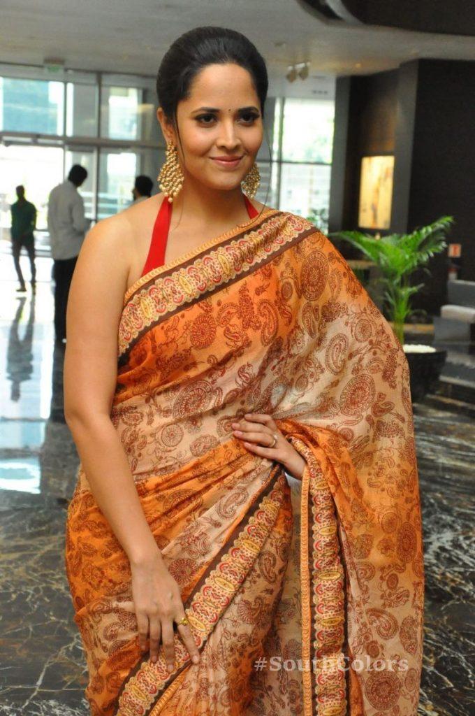 anasuya bharadwaj latest stills at rangasthalam thank you meet 5